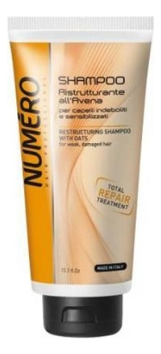 Купить Восстанавливающий шампунь для волос с экстрактом овса Numero Restructuring With Oats Shampoo: Шампунь 300мл, Brelil Professional
