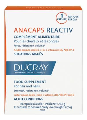Капсулы для волос и кожи головы Аnacaps Tri-ACTIV Complement Alimentaire No30 22,5г: Капсулы 1шт анакапс reactiv для волос и кожи головы 30 ducray биодобавка к пище