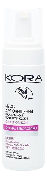 Купить Мусс для очищения лица с пребиотиком 160мл, KORA