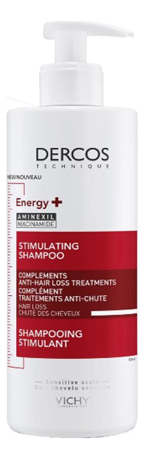 Тонизирующий шампунь для волос Dercos Energising: Шампунь 400мл vichy dercos тонизирующий кондиционер
