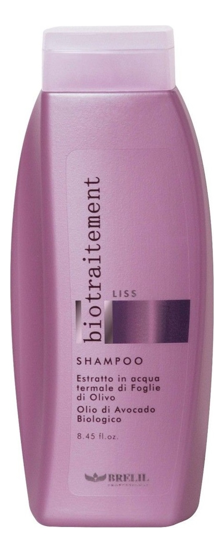 Шампунь для волос разглаживающий Bio Traitement Liss Shampoo: Шампунь 250мл шампунь для мелированных волос bio treatment colour shampoo шампунь 250мл