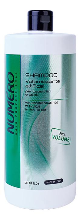 Шампунь для придания объема волосам с экстрактом ягод асаи Numero Volumising With Acai Shampoo: Шампунь 1000мл фото