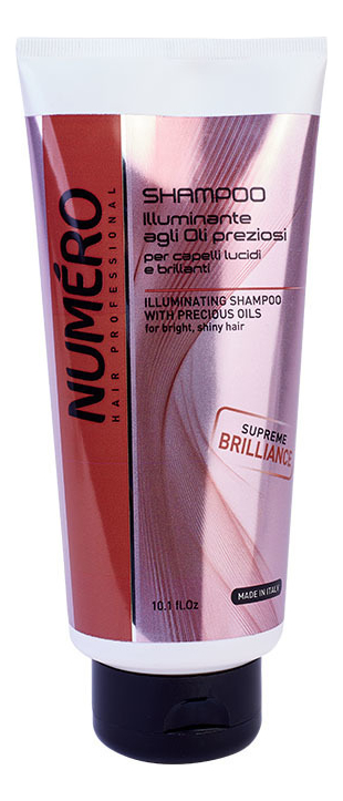 Купить Шампунь для волос с маслом арганы и макадамии Numero Illuminating Shampoo With Precious Oils: Шампунь 300мл, Brelil Professional