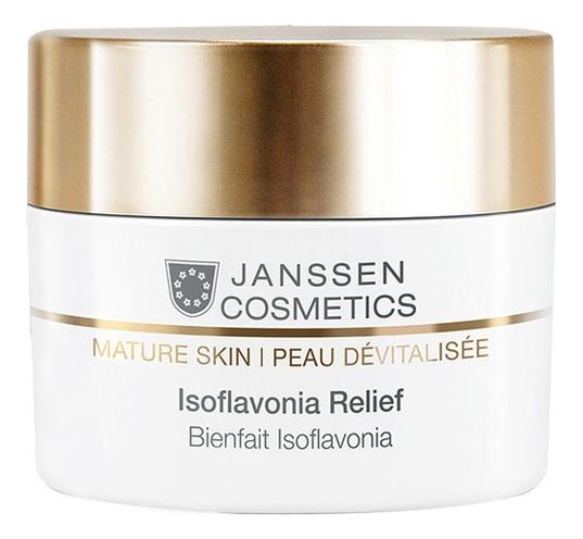 Капсулы с фитоэстрогенами для лица Mature Skin Isoflavonia Relief: Капсулы 50шт эмульсия для тела janssen cosmetics isoflavonia с фитоэстрогенами 200 мл