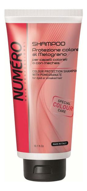 Шампунь для защиты цвета волос с экстрактом граната Numero Colour Protection Shampoo With Pomegranate: Шампунь 300мл, Brelil Professional  - Купить