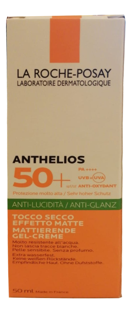 Матирующий гель-крем для лица Anthelios XL Anti-Shine SPF50+ 50мл гель крем для лица alpha homme genwood hydro 50мл