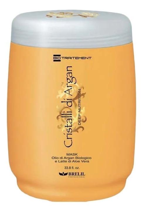 Маска для глубокого восстановления волос Bio Traitement Cristalli Di Argan: Маска 1000мл brelil bio traitement cristalli di argan oil crystals жидкие кристаллы с маслом аргании 50 мл