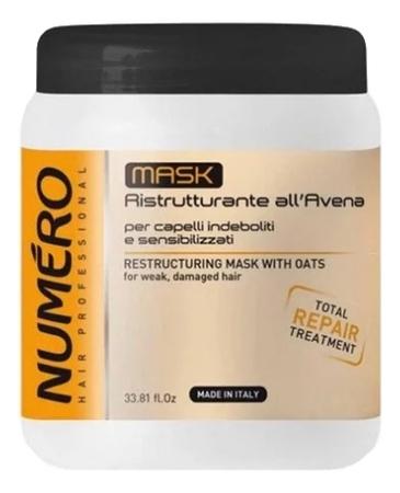 Купить Маска для волос с экстрактом овса Numero Restructuring Mask With Oats: Маска 1000мл, Brelil Professional
