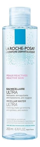 Мицеллярная вода для чувствительной, склонной к аллергии кожи Micellar Water Ultra Reactive: Вода 200мл la roche posay мицеллярная вода для чувствительной и склонной к аллергии кожи лица и глаз ultra reactive 100 мл