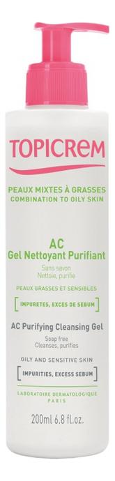 Гель для лица Peaux Mixtes A Grasses Ac Gel Nettoyant Purifiant: Гель 200мл noreva exfoliac gel doux nettoyant purifiant