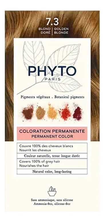 Краска для волос Phyto Color: 7.3 Золотистый блонд phyto color 6