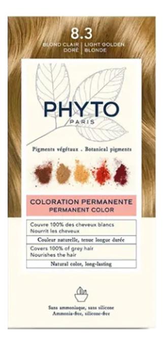 Краска для волос Phyto Color: 8.3 Золотистый блонд phyto color 6