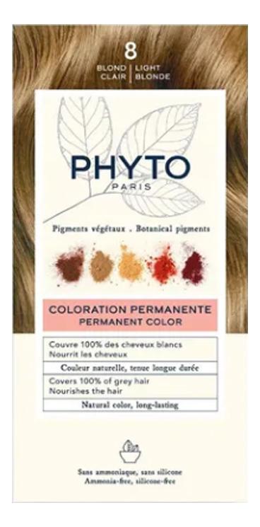 Краска для волос Phyto Color: 8 Светлый блонд phytosolba phyto color краска для волос фитоколор фитосольба палитра 16 цветов фитоколор краска для волос