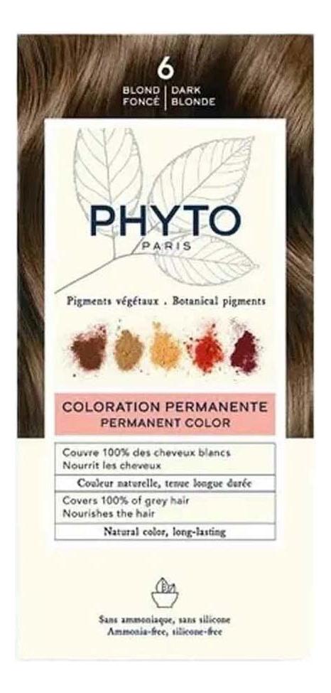 Краска для волос Phyto Color: 6 Темный блонд phyto color 6
