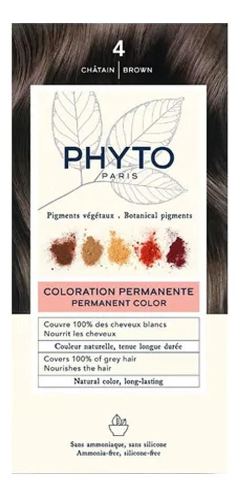 Краска для волос Phyto Color: 4 Шатен phytosolba phyto color краска для волос фитоколор фитосольба палитра 16 цветов фитоколор краска для волос