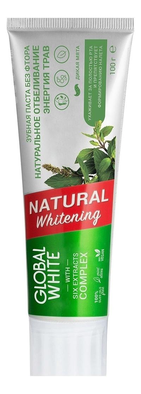 Зубная паста Энергия трав Natural Whitening 100мл, GLOBAL WHITE  - Купить