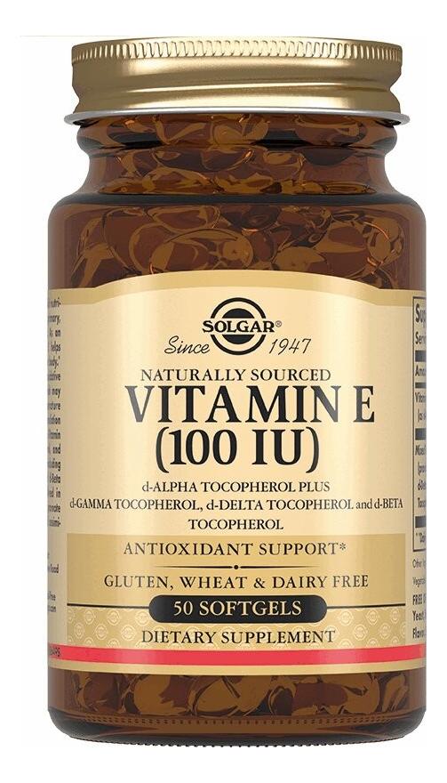 Биодобавка Витамин E Vitamin 50 капсул солгар витамин е для сохранения молодости и элластичности кожи 100me 50 капсул solgar витамины