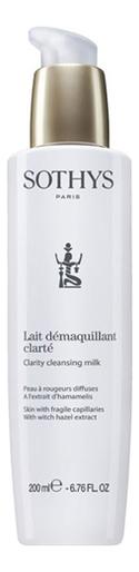 Купить Очищающее молочко для лица Lait Demaquillant Clarte: Молочко 200мл, Sothys