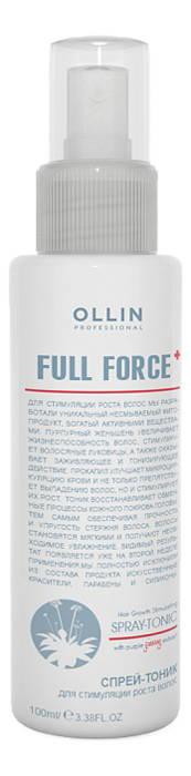 Спрей-тоник для стимуляции роста волос Full Force Hair Growth Stimulating Spray-Tonic 100мл спрей тоник ollin professional full force