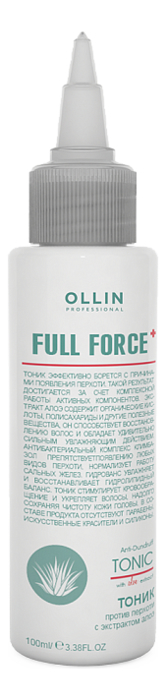 Тоник против перхоти с экстрактом алоэ Full Force Anti-Dandruff Tonic Mask With Aloe Extract 100мл спрей тоник ollin professional full force