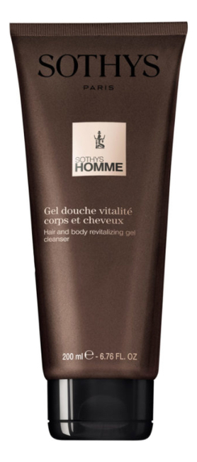 Купить Ревитализирующий гель-шампунь для волос и тела Homme Gel Douche Vitalite Corps Et Cheveux: Гель-шампунь 200мл, Sothys
