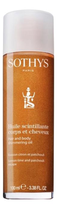 Купить Мерцающее масло для тела и волос Haile Scintillante Corps Et Cheveux 100мл, Sothys
