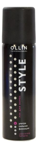 Фото - Лак для волос Style Ultra Strong Hairspray: Лак 50мл ollin professional лак для волос style hairspray средняя фиксация 450 мл