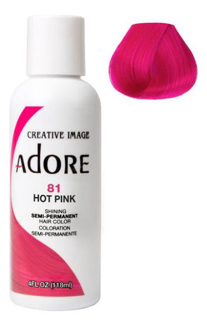 Краска для волос Adore Hair Color 118мл: 81 Hot Pink