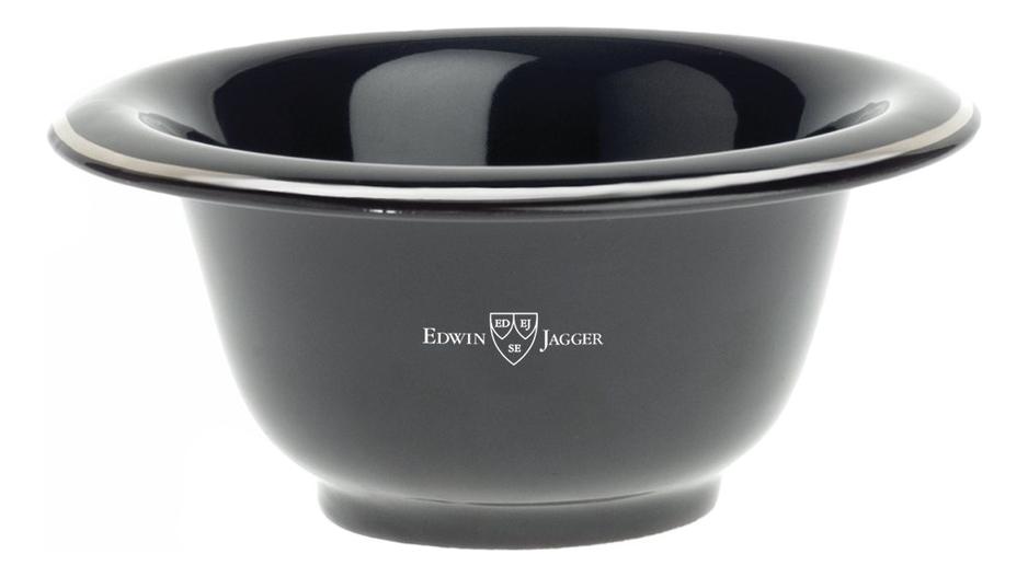 Edwin Jagger Чаша для бритья: Чаша для бритья (черная смола фарфор) панель с полками для шкафа анрекс jagger 2dg2s