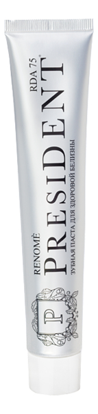 Купить Зубная паста Здоровая белизна и свежесть Renome: Зубная паста 50мл, PresiDENT