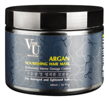 Von-U Маска для волос с аргановым маслом ARGAN Nourishing Hair Mask 480мл