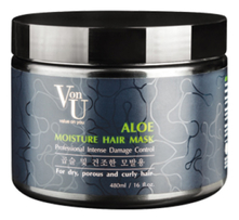 Von-U Маска для волос с экстрактом алоэ вера  Aloe Moisture Hair Mask 480мл
