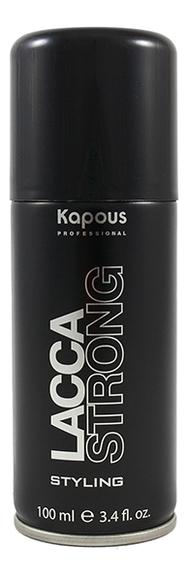 Лак аэрозольный для волос сильной фиксации Styling Lacca Strong: Лак 100мл kapous professional лак аэрозольный для волос сильной фиксации 750 мл