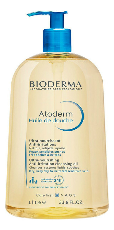Масло для душа Atoderm Ultra-Nourishing Anti-Irritation Shower Oil: Масло 1000мл bioderma atoderm pp anti recidive