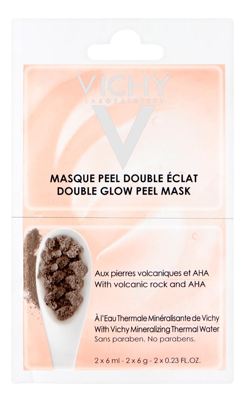 Маска-пилинг для лица Double Glow Peel Mask: Маска 2*6мл, Vichy  - Купить