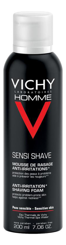 Пена для бритья Homme Sensi Shave Anti-Irritation Shaving Foam 200мл пена для бритья vichy vichy vi055lwukq71