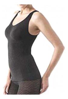 Корректирующие майка-корсет без рукавов Супер-Эффект : Черный hotex шортики корректирующие 2 цвета 1 шт бежевые