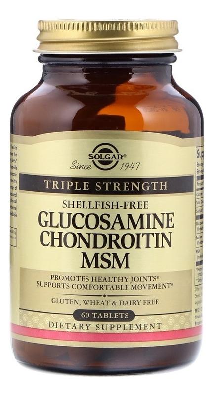 Биодобавка Комплекс глюкозамин-хондроитин Glucosamine Chondroitin MSM 60 таблеток