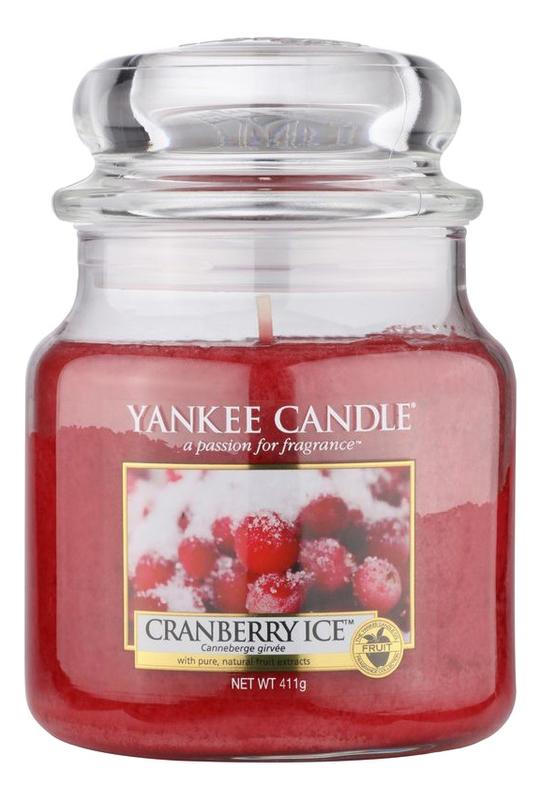 Купить Ароматическая свеча Cranberry Ice: Свеча 411г, Yankee Candle