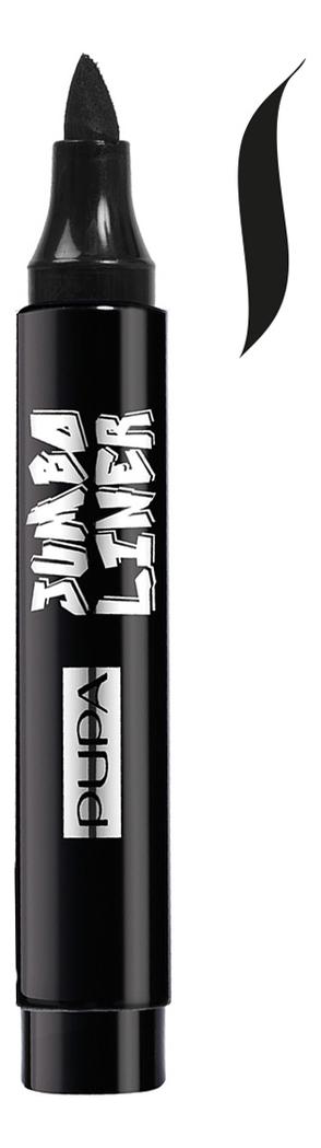 Купить Подводка-фломастер для глаз с макси-аппликатором Jumbo Liner 2, 4мл: 001 Black, PUPA Milano
