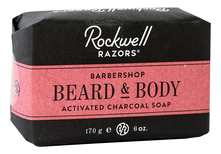 Rockwell Razors Мыло для лица и бороды Beard & Body Activated Charcoal Soap 170г