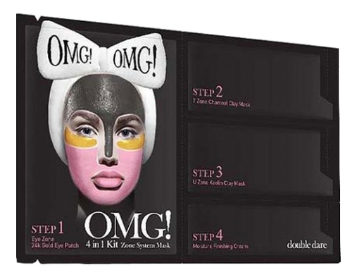 Купить Система для ухода за кожей лица 4 In 1 Zone System Mask: Четырехкомпонентная система 5шт, Double Dare OMG!