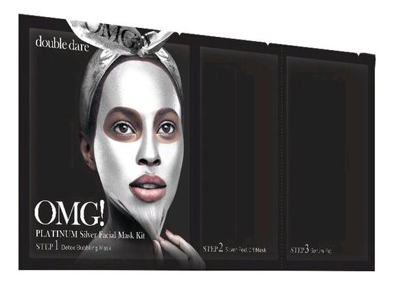 Маска для лица трехкомпонентная Platinum Facial Mask 5шт: Silver