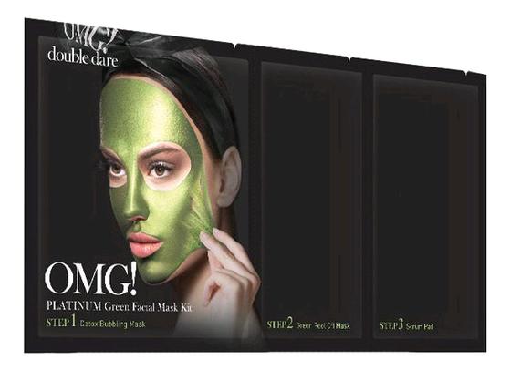 Маска для лица трехкомпонентная Platinum Facial Mask 5шт: Green фото