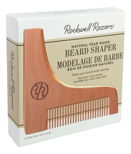 Rockwell Razors Трафарет для бороды с гребнем Beard Shaper & Modelage De Barbe (грушевое дерево)