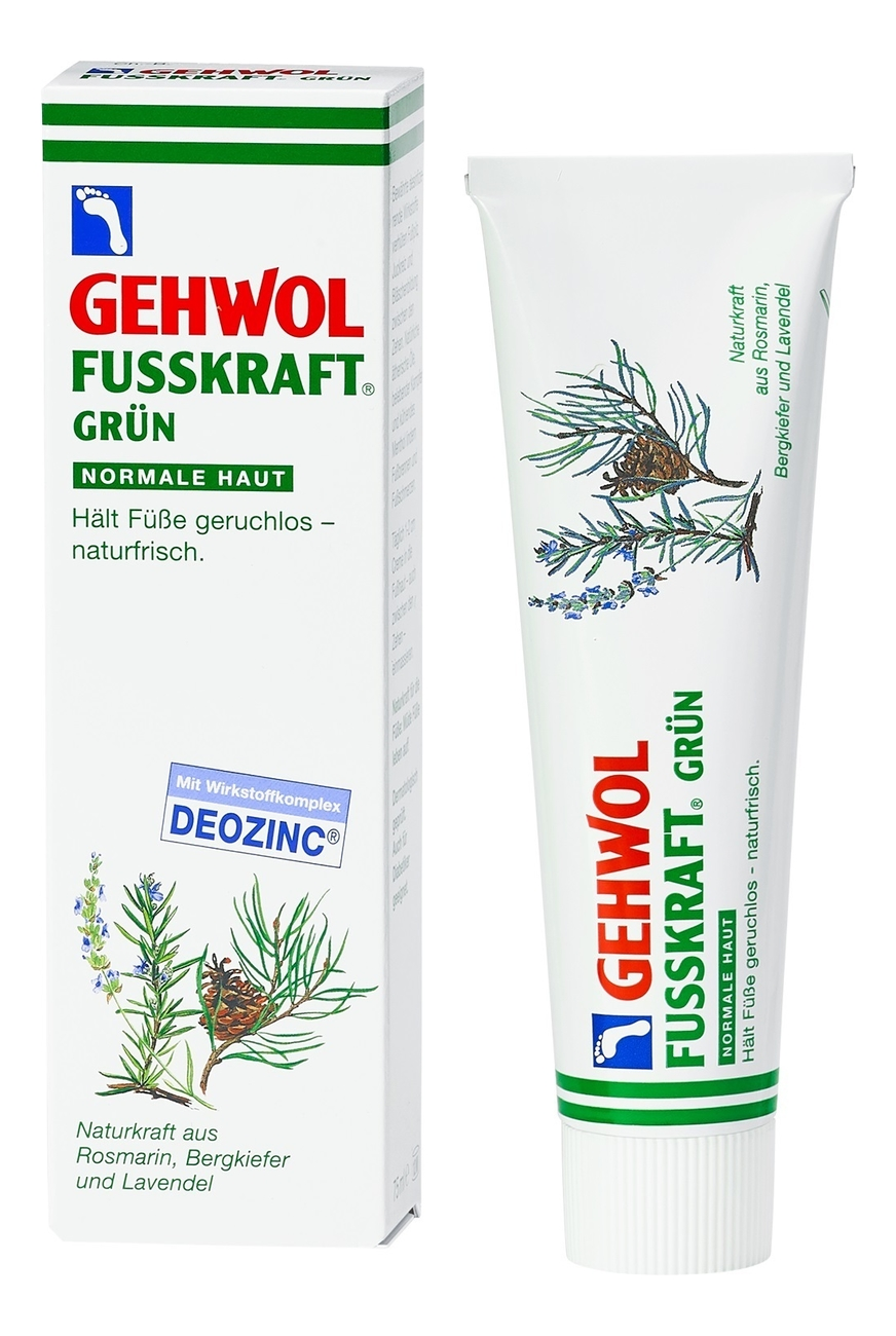 Зеленый бальзам для ног Fusskraft Grun: Бальзам 75мл