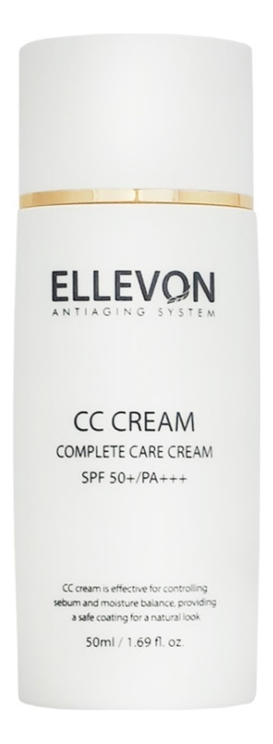 Купить CC крем многофункциональный Cream SPF50+ PA+++ 50мл, ELLEVON