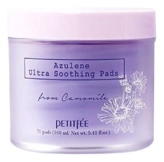 Ультрауспокаивающие подушечки для лица с азуленом Azulene Ultra Soothing Pads 70шт azulene lotion