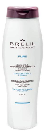 Купить Шампунь для жирных волос Bio Treatment Pure Sebum Balancing Shampoo: Шампунь 250мл, Brelil Professional