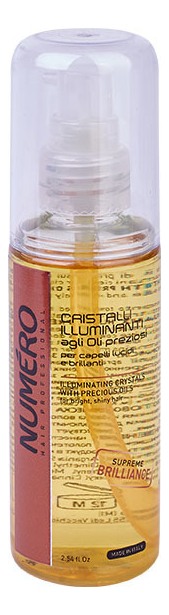 Купить Жидкие кристаллы для блеска волос Numero Illuminating Crystals With Precious Oil 75мл, Brelil Professional